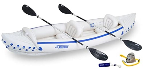 Sea Eagle 370 Deluxe 3 Person Inflatable Portable Sport Kayak