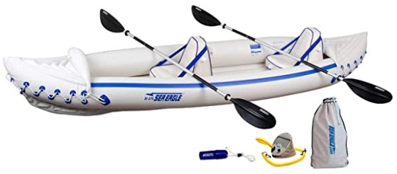 Sea Eagle 370 Pro 3 Person Inflatable Portable Sport Kayak