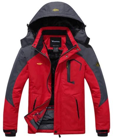 Wantdo Men's Mountain Windproof Rain Jacket