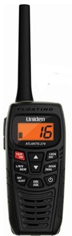 Uniden Atlantis 270 Handheld Floating 2-Way 6W VHF Marine Radio
